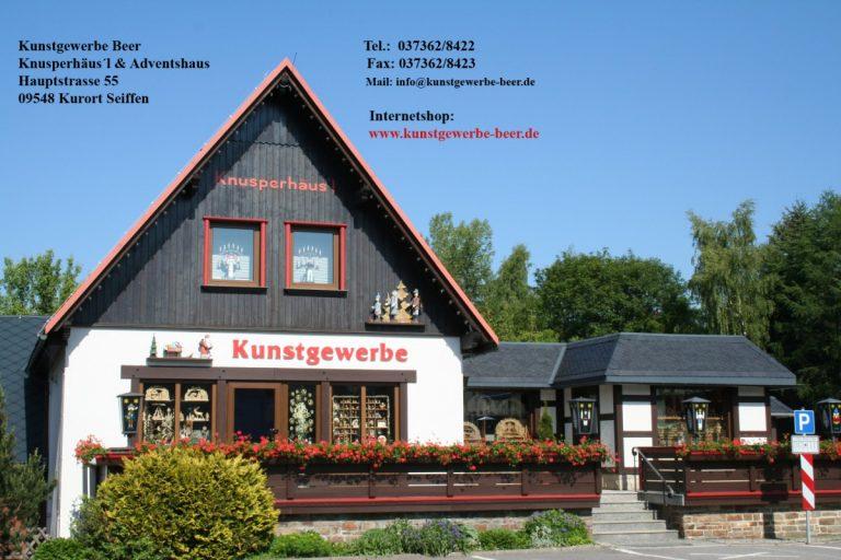 Kunstgewerbe Beer-Knusperhäusl und Adventshaus