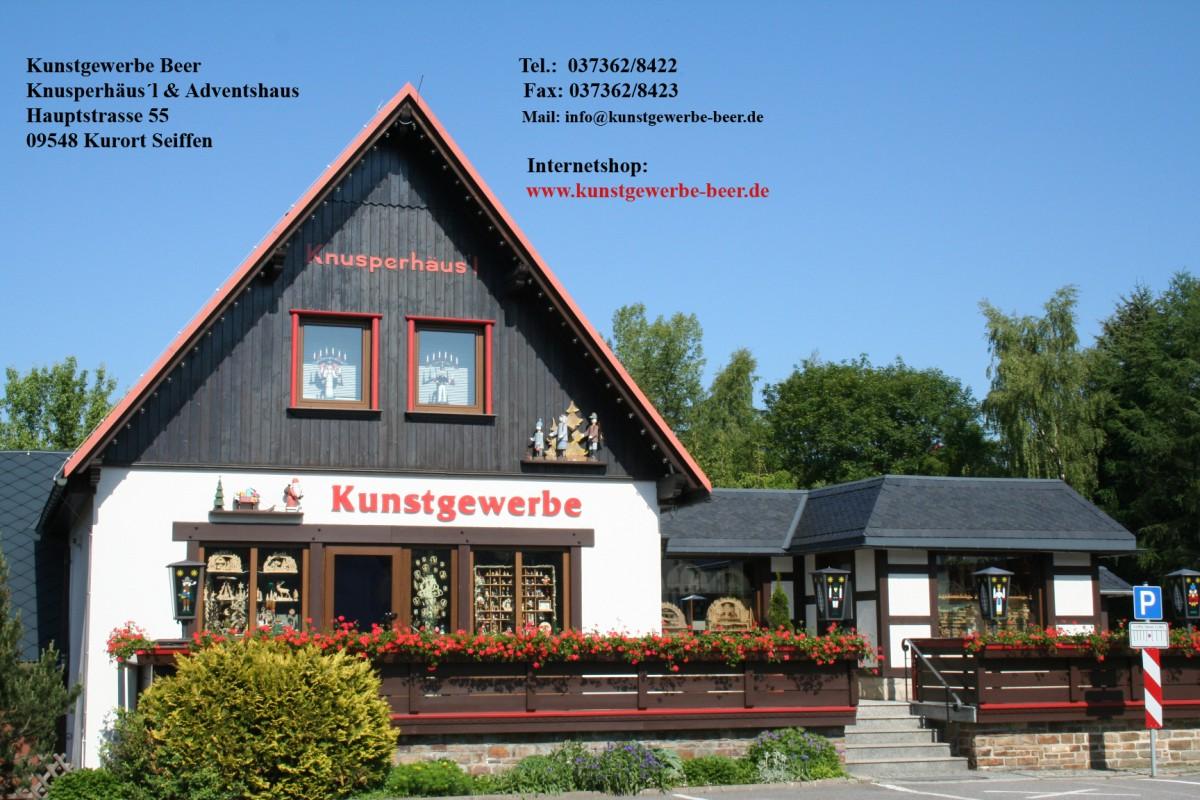 Kunstgewerbe Beer-Knusperhäusl und Adventshaus Ladengeschäft