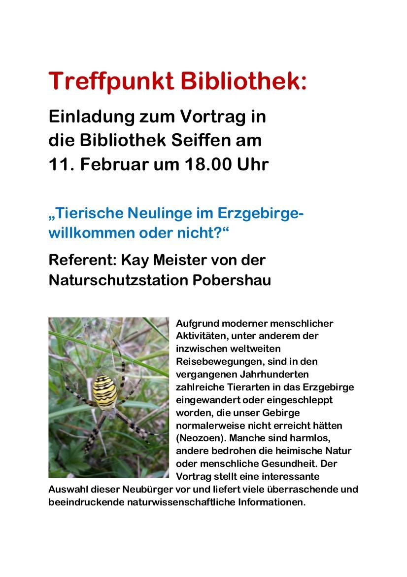 Vortrag:Tierische Neulinge im Erzgebirge-willkommen oder nicht? 3