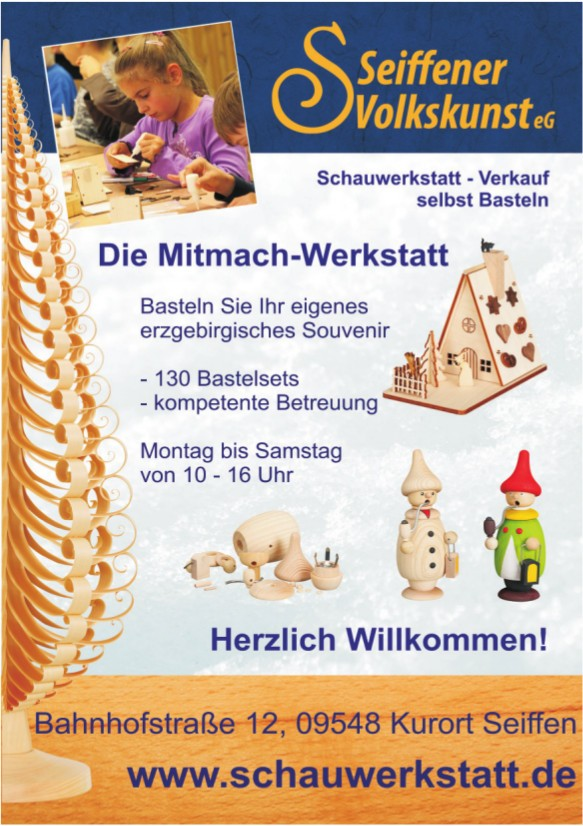 Basteln eines original Seiffener Souvenirs @ Schauwerkstatt | Kurort Seiffen/Erzgeb. | Sachsen | Deutschland