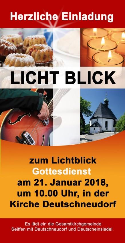 Lichtblickgottesdienst in der Kirche Deutschneudorf @ Kirche Deutschneudorf | Deutschneudorf | Sachsen | Deutschland