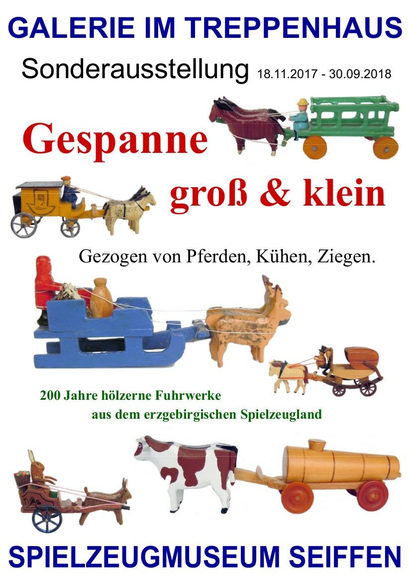 GALERIE IM TREPPENHAUS Spielzeugmuseum Gespanne groß und klein @ Erzgebirgisches Spielzeugmuseum | Kurort Seiffen/Erzgeb. | Sachsen | Deutschland