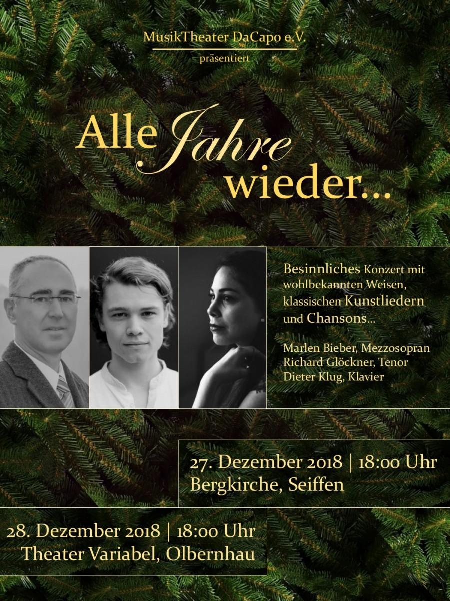 """Weihnachtskonzert """"Alle Jahre wieder…"""" in der Bergkirche 27.Dezember 2018 1"""