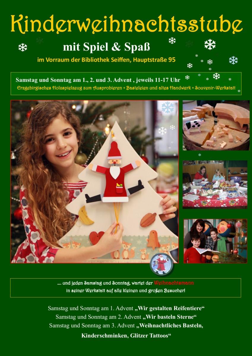 Kinder Weihnachtsstube @ Vorraum der Bibliothek | Kurort Seiffen/Erzgeb. | Sachsen | Deutschland