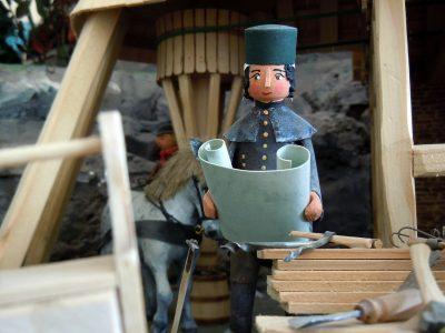 Mechanischer Heimatberg im Spielzeugmuseum Seiffen