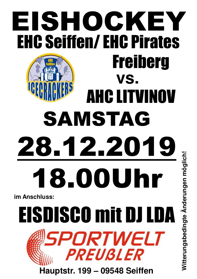 28.12.2019 Eishockey Sportwelt Preußler