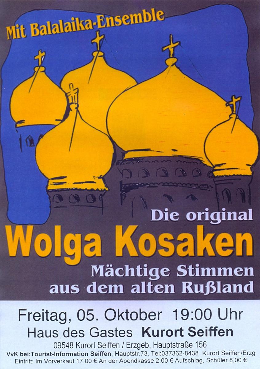 Wolga Kosaken-das Original mit Balalaika Ensemble @ Haus des Gastes   Kurort Seiffen/Erzgeb.   Sachsen   Deutschland
