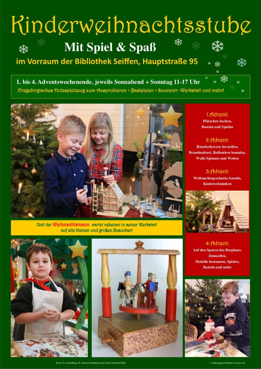 30.11.-22.12.2019 Kinderweihnachtsstube Seiffen