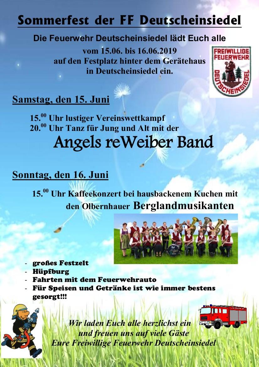 26. Sommerfest in Deutscheinsiedel @ FF Deutscheinsiedel | Deutschneudorf | Sachsen | Deutschland