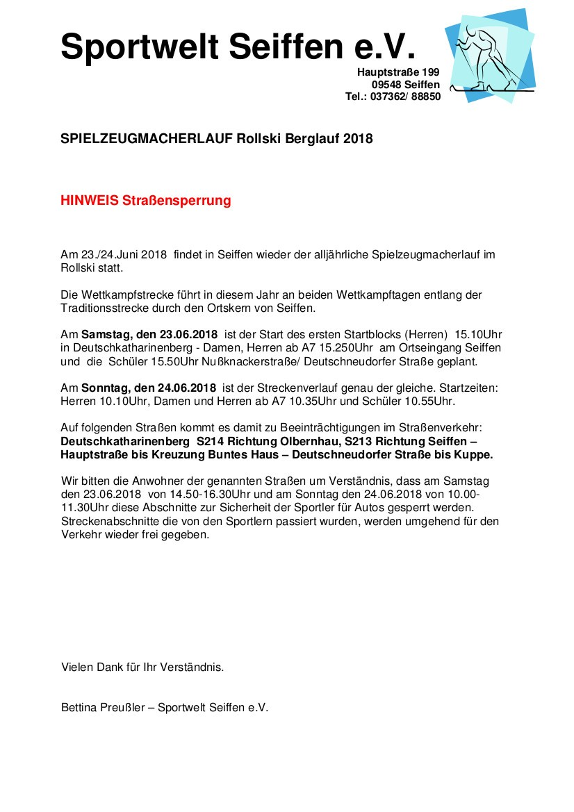 Spielzeugmacherlauf Rollski @ Sportwelt Preußler | Kurort Seiffen/Erzgeb. | Sachsen | Deutschland