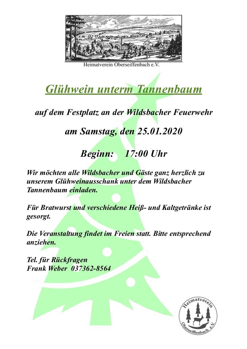 Glühwein unterm Tannenbaum @ Festplatz Oberseiffenbacher Feuerwehr | Kurort Seiffen/Erzgeb. | Sachsen | Deutschland