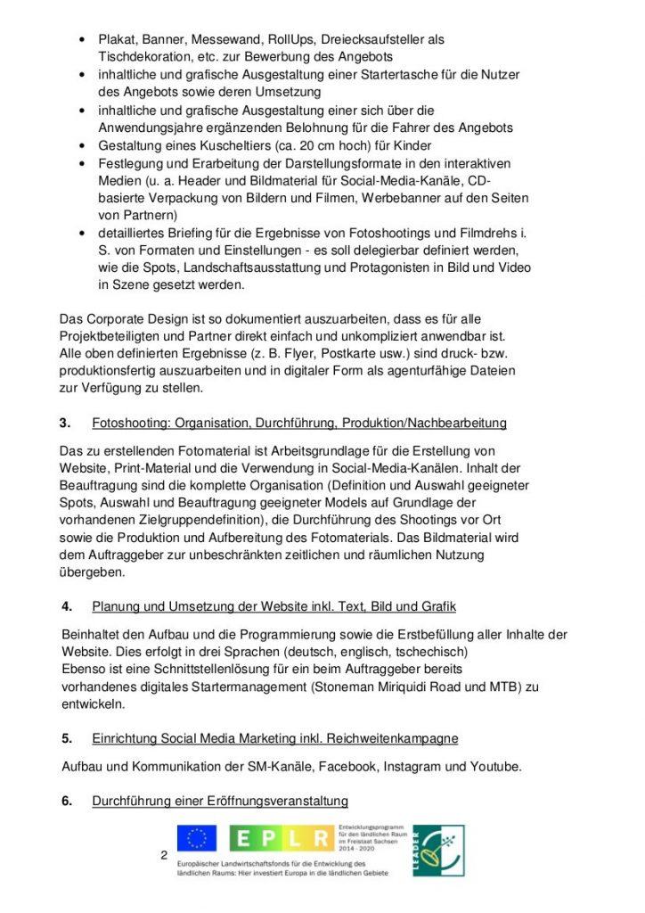 """Bekanntmachung Projektvorhaben """"8000er Blockline Marketing und Kommunikation"""" 2"""