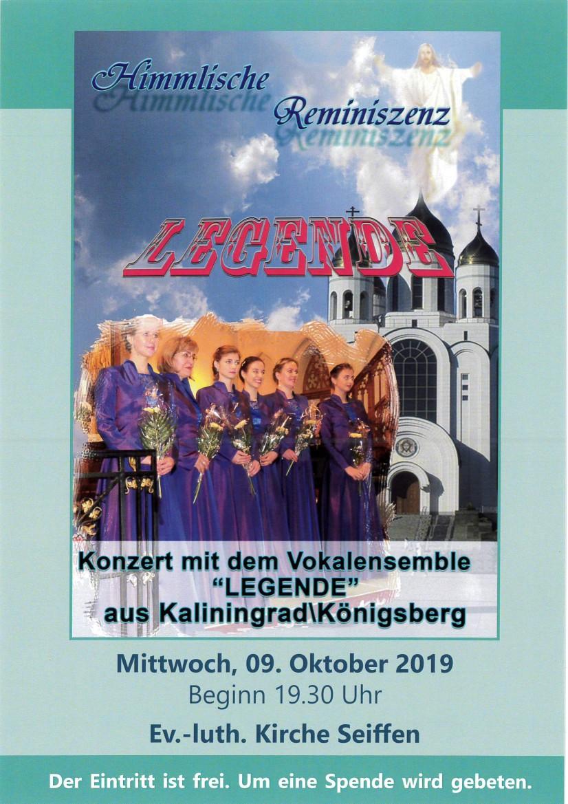 Konzert mit dem Kammerchor Legende in der Bergkirche 09.Oktober 2019 1