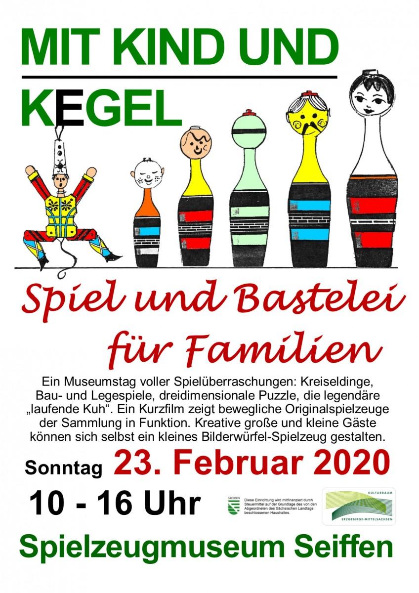 23.02.2020 Spielzeugmuseum Seiffen Kind Kegel