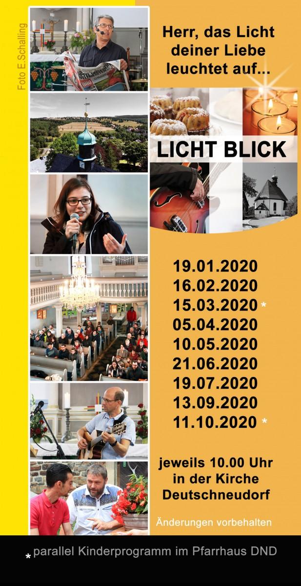 Lichtblickgottesdienst Kirche Deutschneudorf 2020