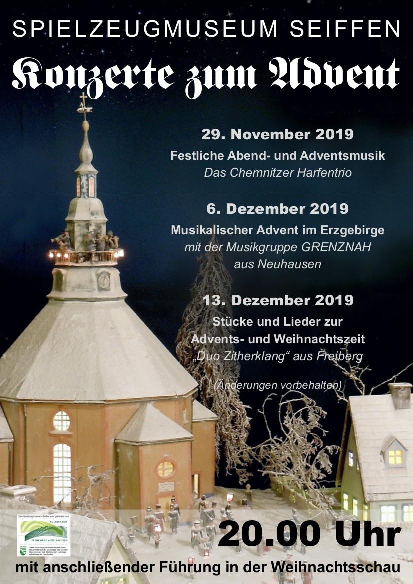 Festliche Advents- und Weihnachtsmusik zum Freitagabend mit dem Chemnitzer Harfentrio am 29.November 2019 1