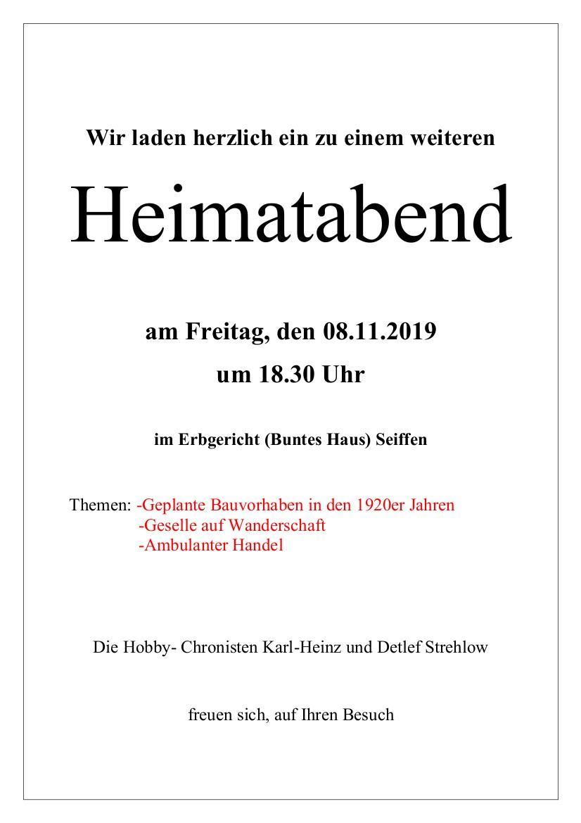 08.11.2019 Heimatabend im Hotel Buntes Haus