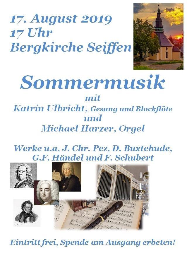 Sommermusik in der Bergkirche am 17.August 2019 1