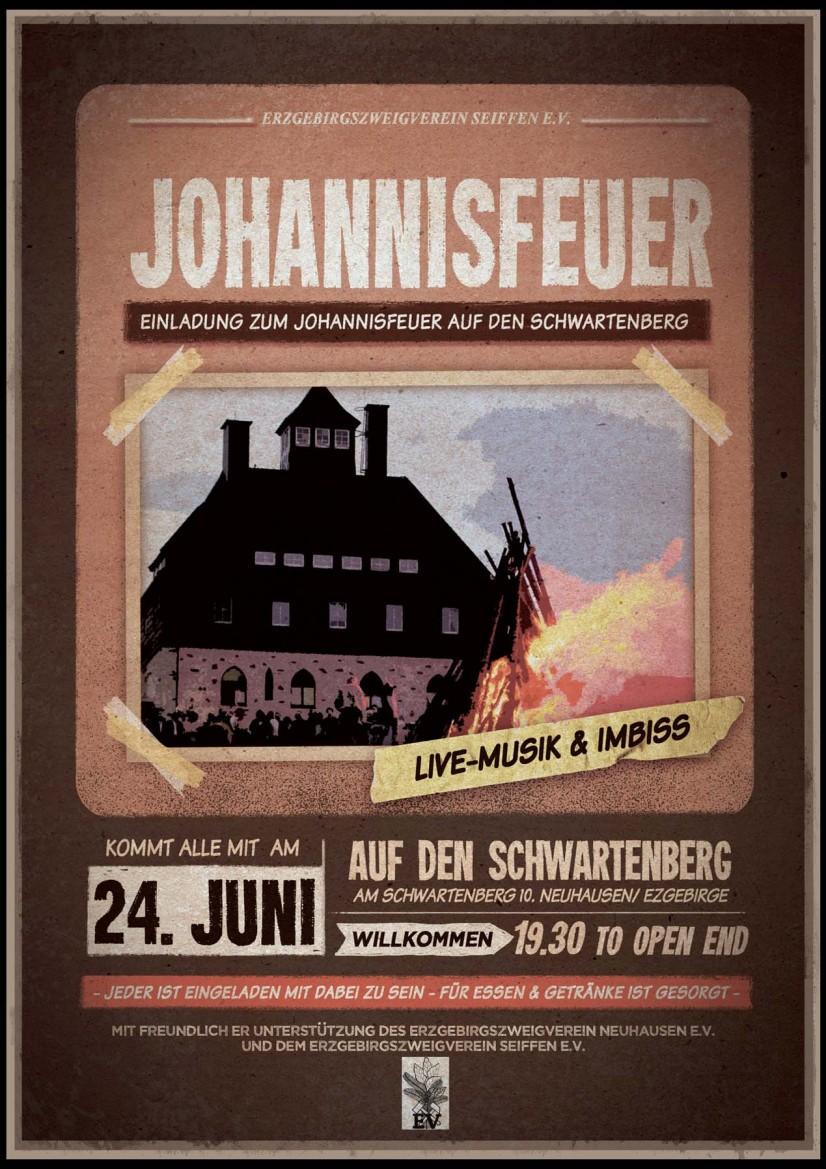 Johannisfeuer auf dem Schwartenberg am 24.Juni 2019 1