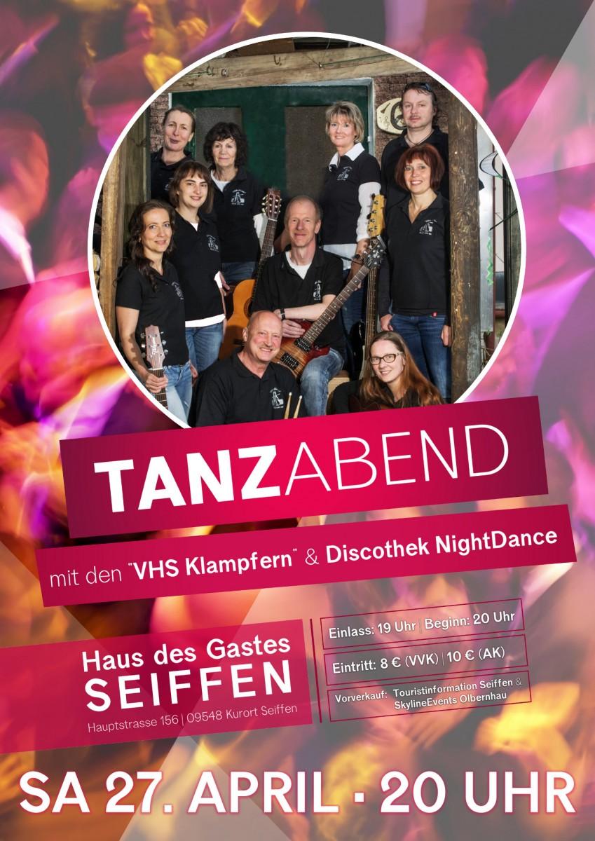 Tanzabend mit den VHS-Klampfern und Discothek @ Haus des Gastes   Kurort Seiffen/Erzgeb.   Sachsen   Deutschland