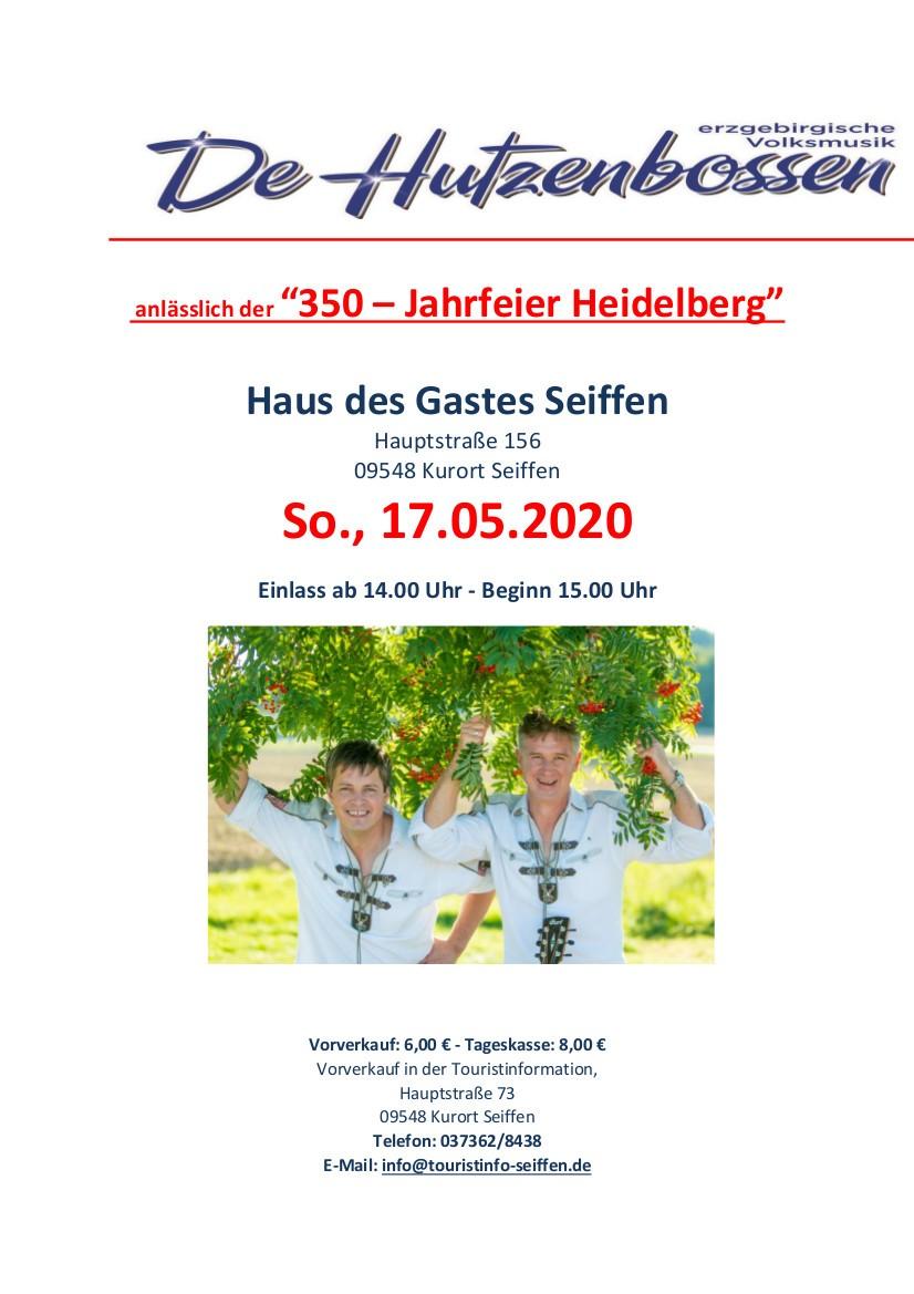 17.05.2020 Hutzenbossen 350 Jahre Heidelberg