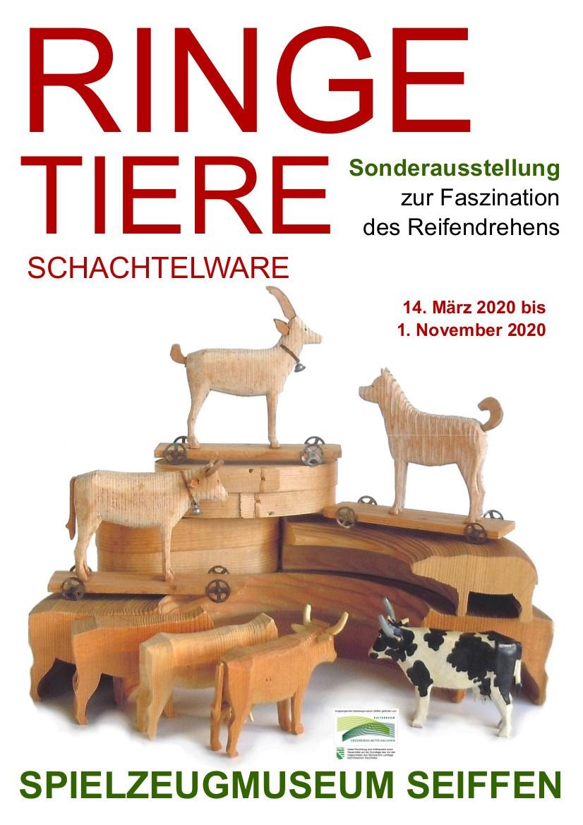 14.03.-01.11.2020 Ausstellung Reifentiere Spielzeugmuseum
