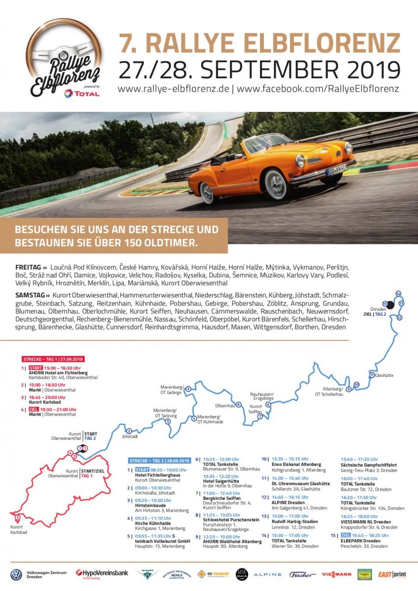 Rallye Elbflorenz fährt durch Seiffen am 28. September 2019 1
