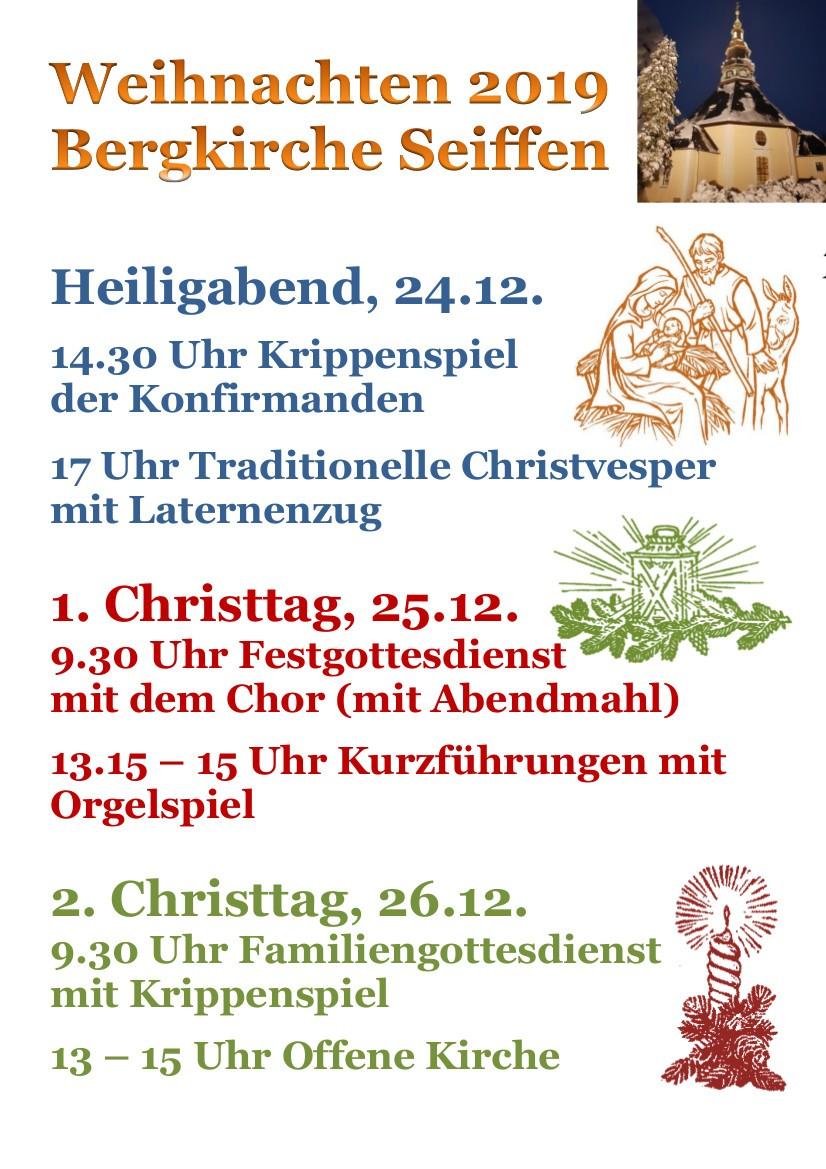 Weihnachten 2019 Bergkirche Seiffen
