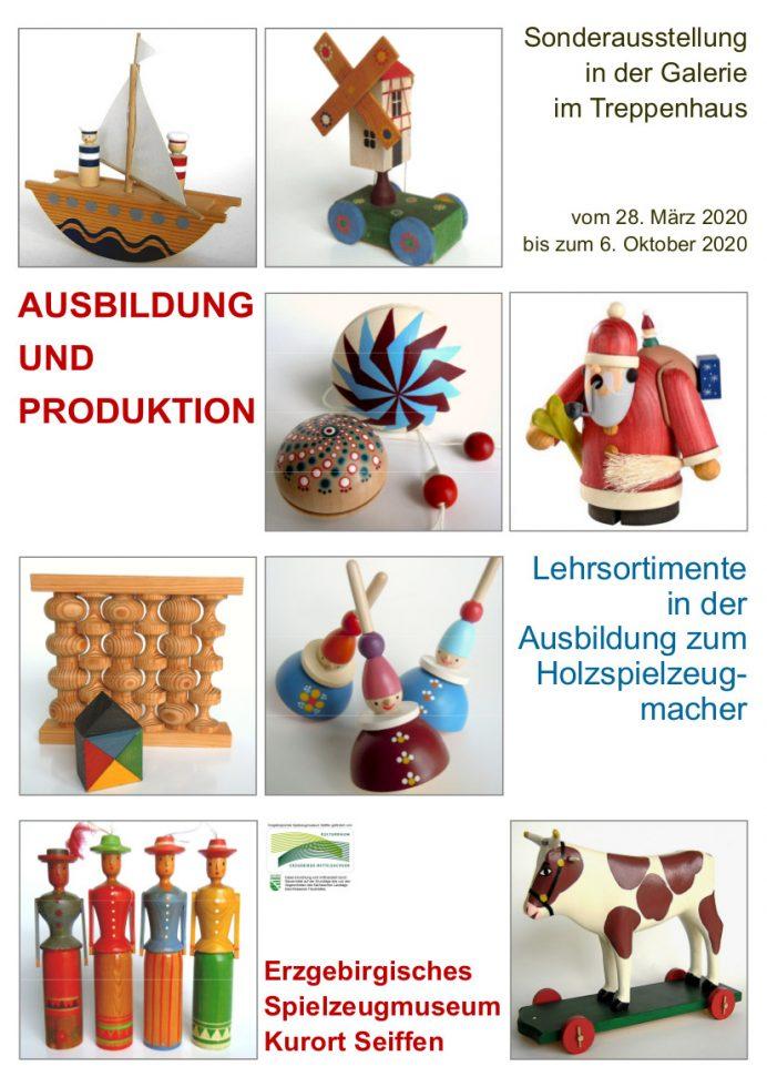 """GALERIE IM TREPPENHAUS """"Ausbildung und Produktion, Lehrsortimente in der Ausbildung zum Holzspielzeugmacher"""" @ Erzgebirgisches Spielzeugmuseum"""