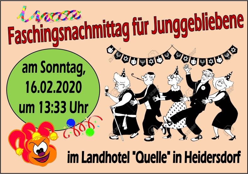 Faschingsveranstaltung in Heidersdorf