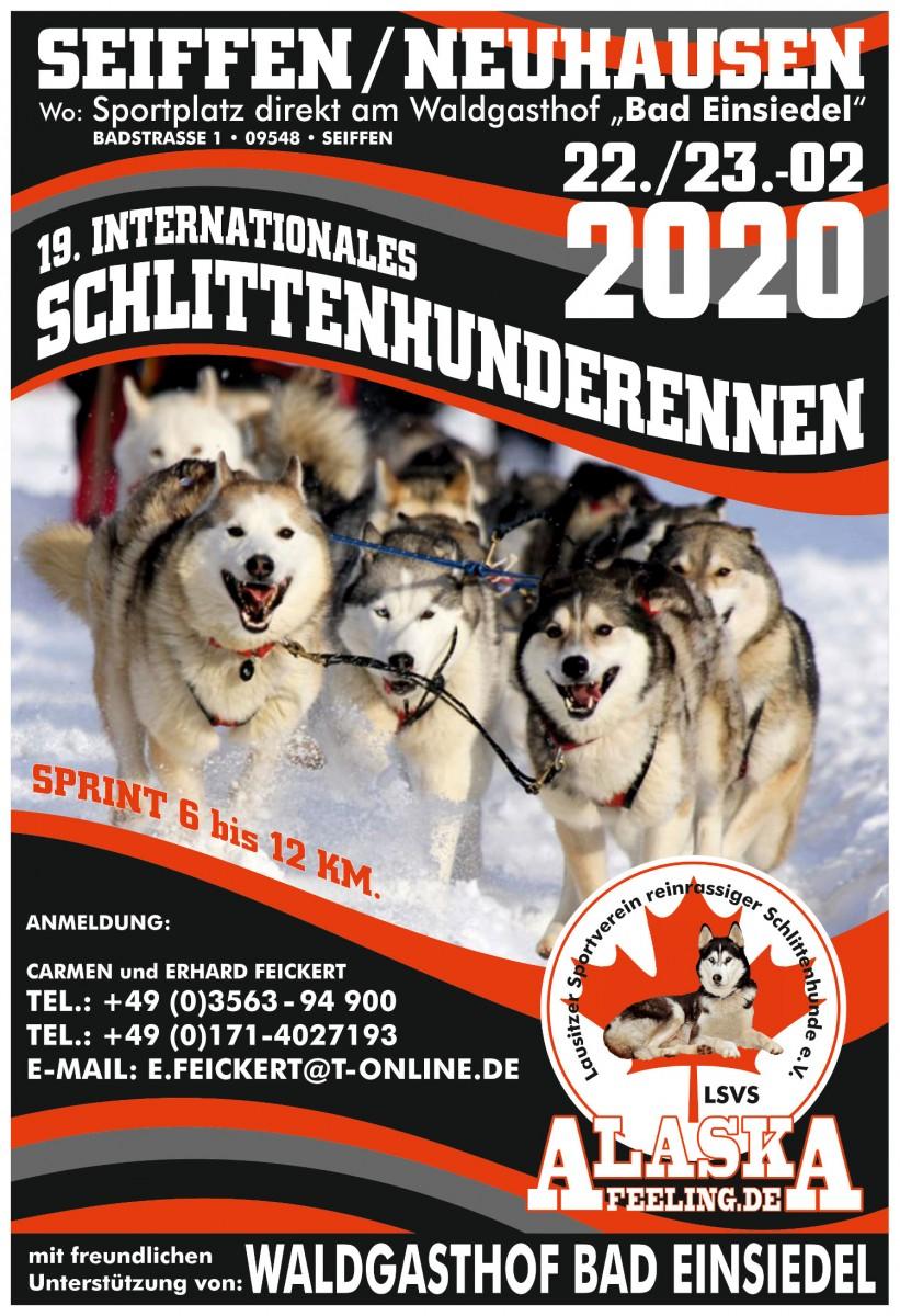 22.-23.02.2020 Schlittenhunderennen Seiffen