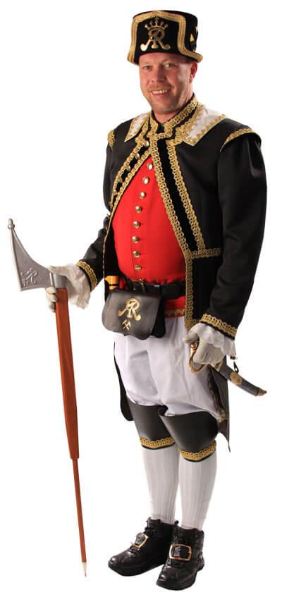 Bergmann in historischer Uniform