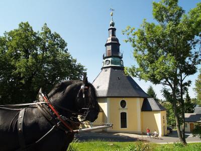 Fahrt mit Pferdekutsche in Seiffen