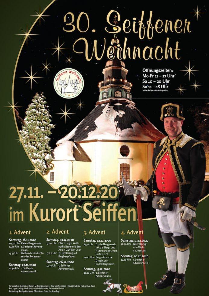 Plakat zur 30. Seiffener Weihnacht im Dezember 2020