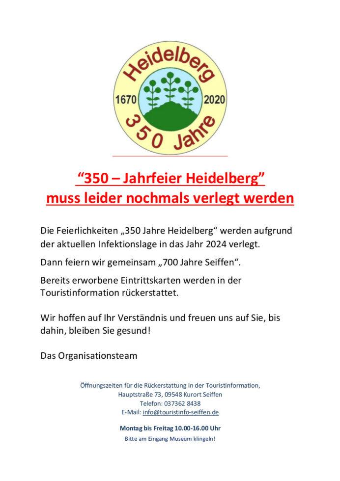Heidelbergfest Verlegung 2024