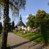 Blick zur Kirche-Seiffen-Stein