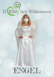 Schild Toiletten einzeln mit Engel