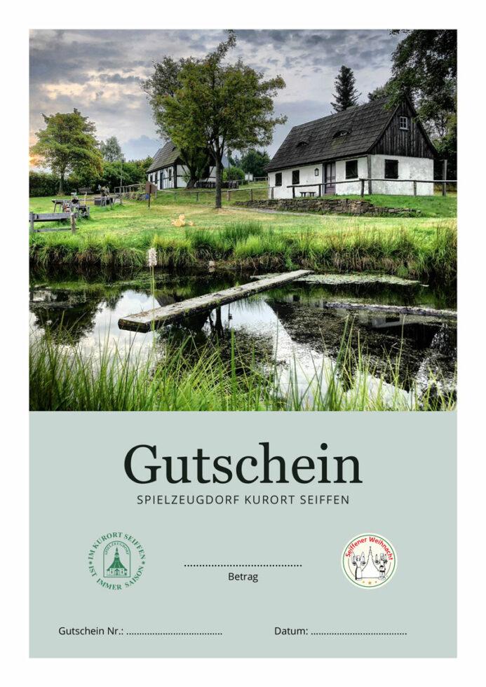 Seiffen-Gutschein, Motiv Freilichtmuseum Sommer