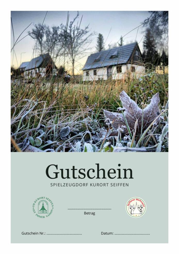 Seiffen-Gutschein, Motiv Freilichtmuseum Winter