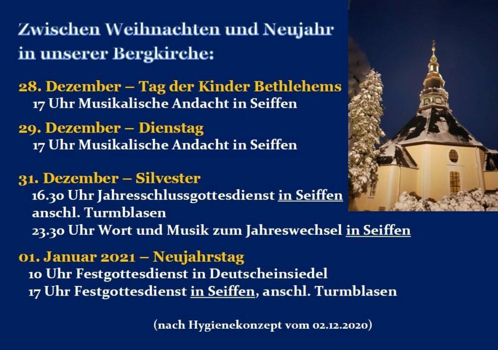 Bergkirche zum Jahreswechsel 1