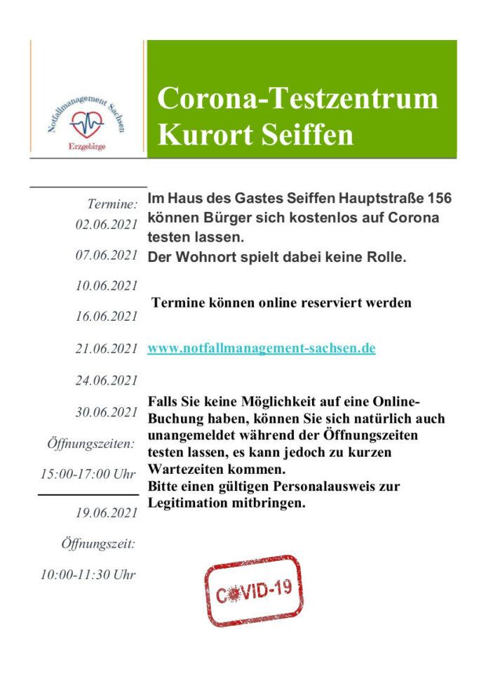 Testzentrum Seiffen-Juni