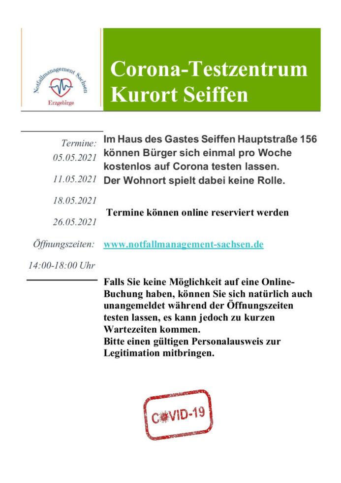 Testzentrum Seiffen-Mai