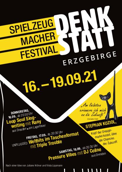 DENKSTATT Spielzeugmacher Festival 16.-19.September 2021 2