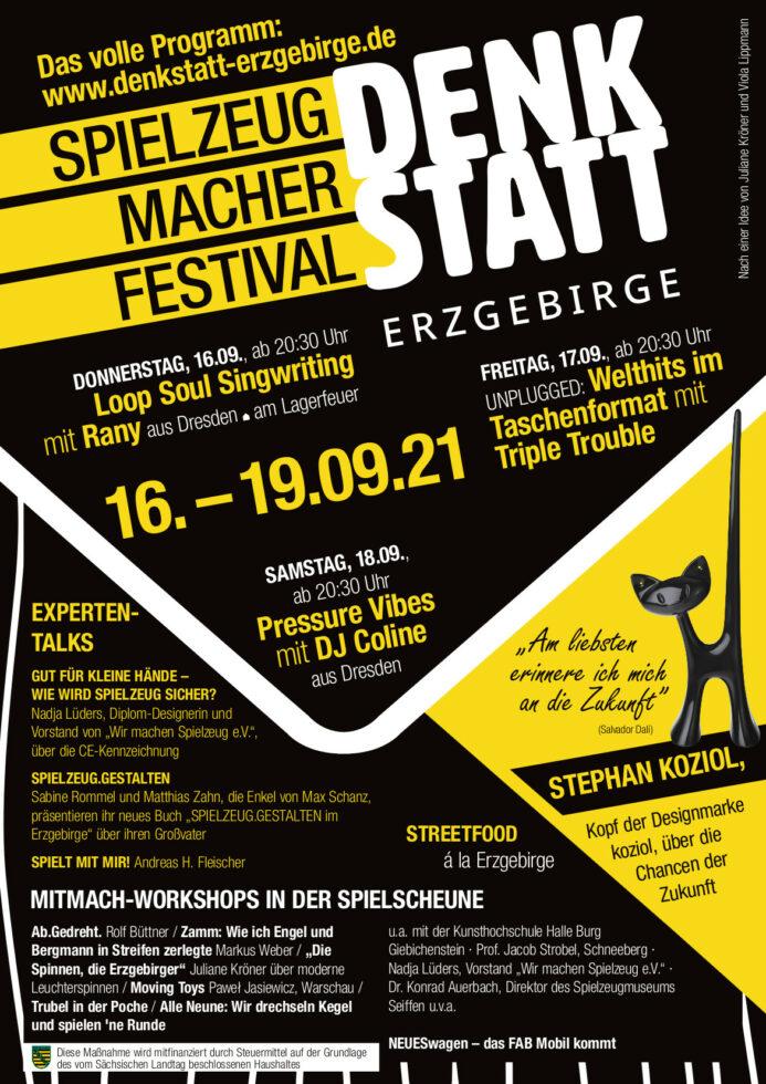 DENKSTATT Spielzeugmacher Festival 16.-19.September 2021 1