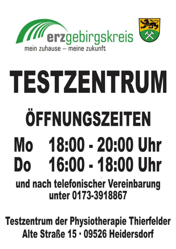 Testzentrum in Heidersdorf 1