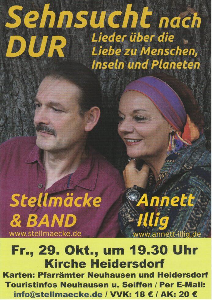 Annett Illig und Stellmäcke mit Band am 29.Oktober 2021 1