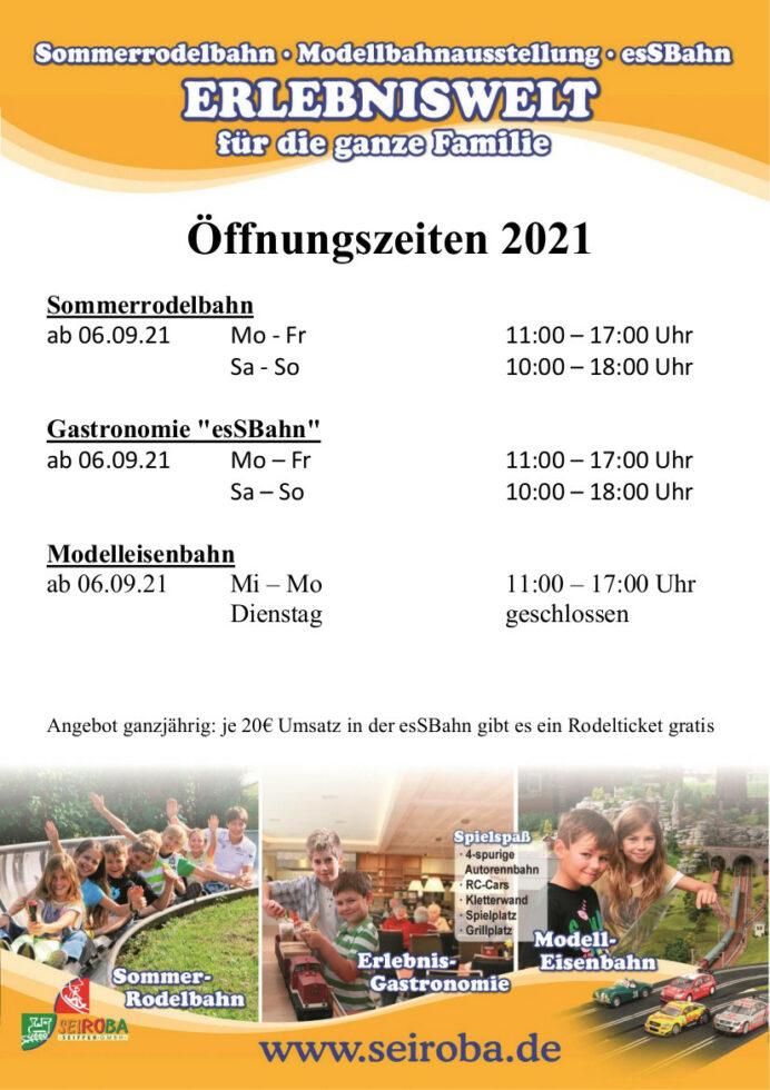 Öffnungszeiten Sommerrodelbahn 1